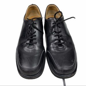 Bally's Rutger Black Leather Lace Up Oxfords 8 M